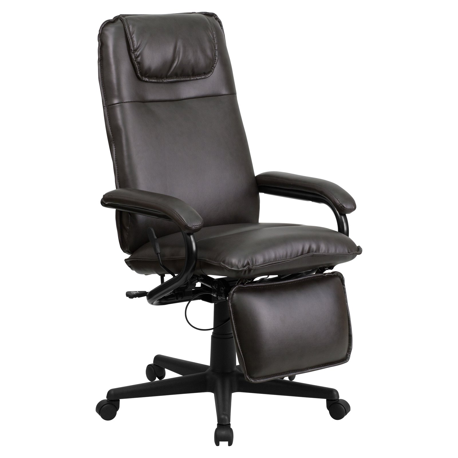 Flash Furniture High Back Leather Executive Reclining Swivel Office Chair - Walmart.com  sc 1 st  Walmart & Flash Furniture High Back Leather Executive Reclining Swivel ... islam-shia.org