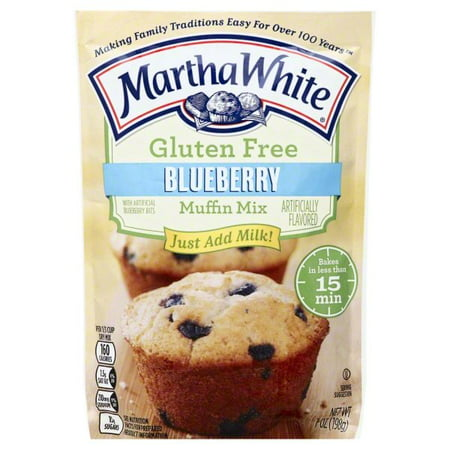 (12 Pack) Martha White Gluten Free Blueberry Mix, 7oz