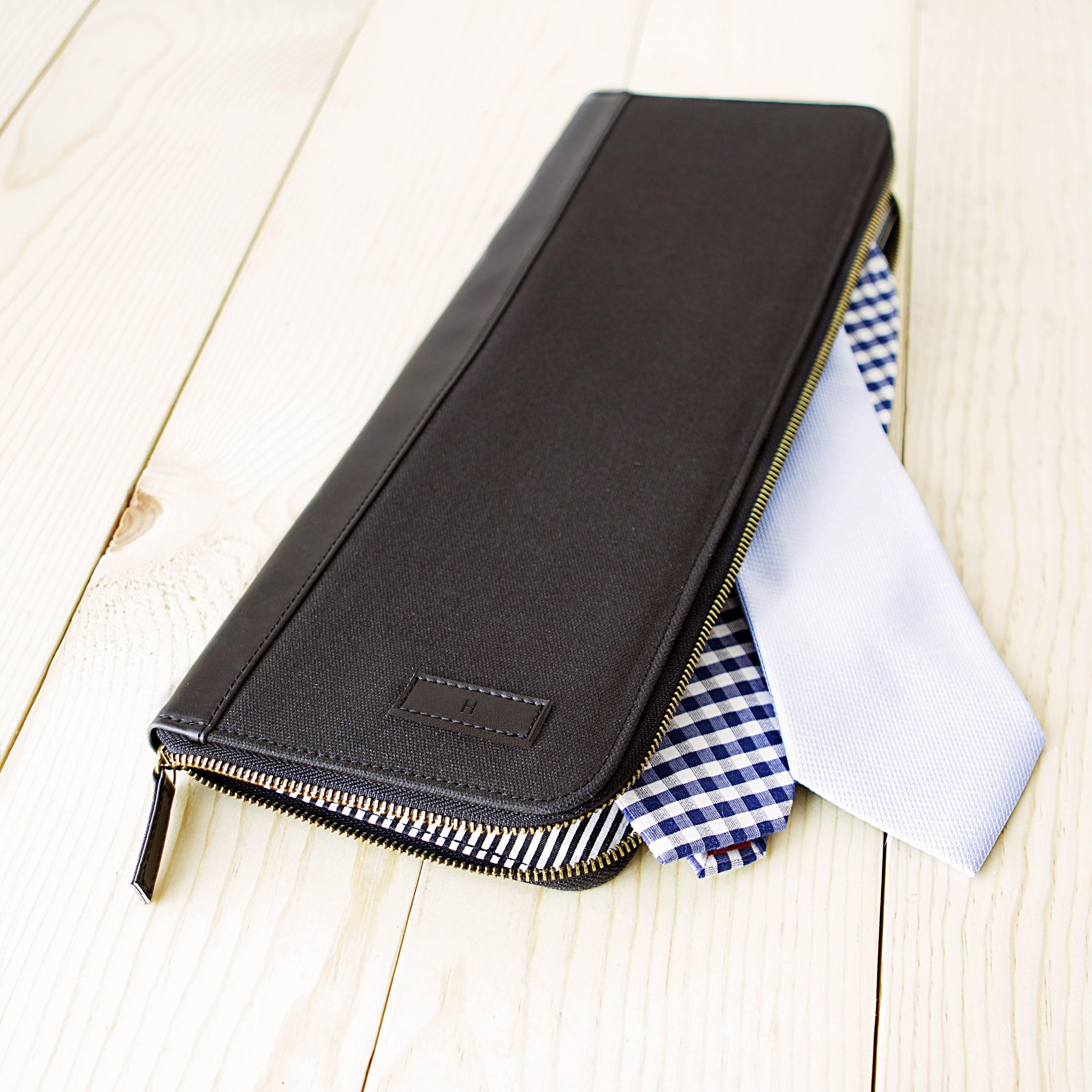 Personalized Men's Black Travel Tie Case Personalized Men...