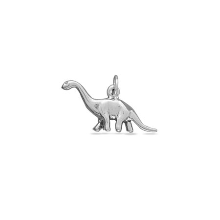 Brontosaurus Apatosaurus Dinosaur Charm Sterling Silver - Made in the - Dinosaur Shoe Charm