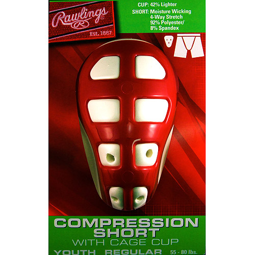 Rawlings Youth Compression Short with Cage Cup