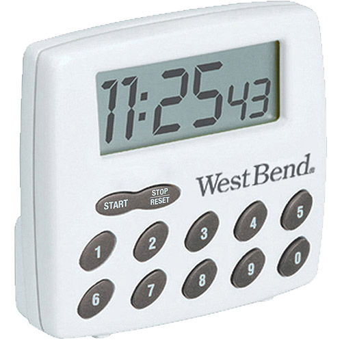West Bend Single Channel Timer, White