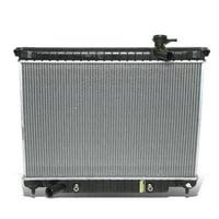 "For 2002 to 2009 Chevy Trailblazer / GMC Envoy Black 1-5/16"" Inlet OE Style 2458 Aluminum Radiator 02 03 04 05 06 07 08"