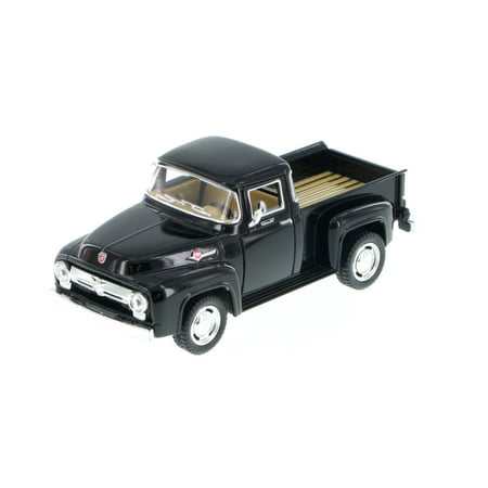 1956 Ford F-100 Pickup Truck, Black - Kinsmart 5385D - 1/38 Scale Diecast Model Toy Car (Brand New, but NOT IN