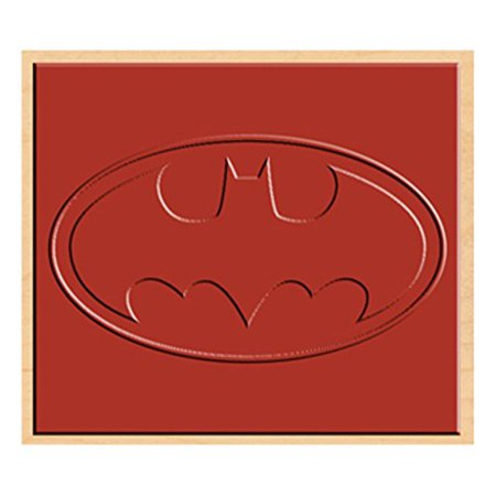 DC Comics Batman Logo Printed On Rubber By Stamp
