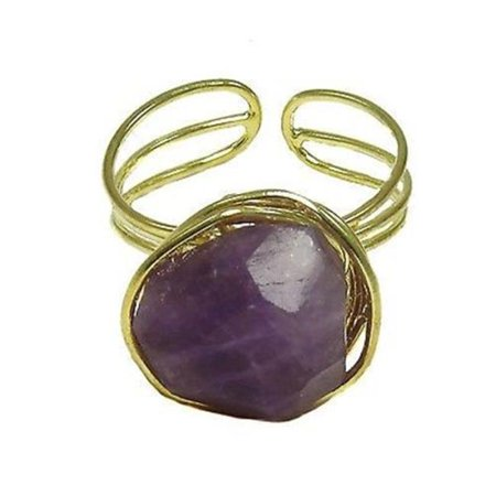 - Agate Chunk Statement Ring, Plum