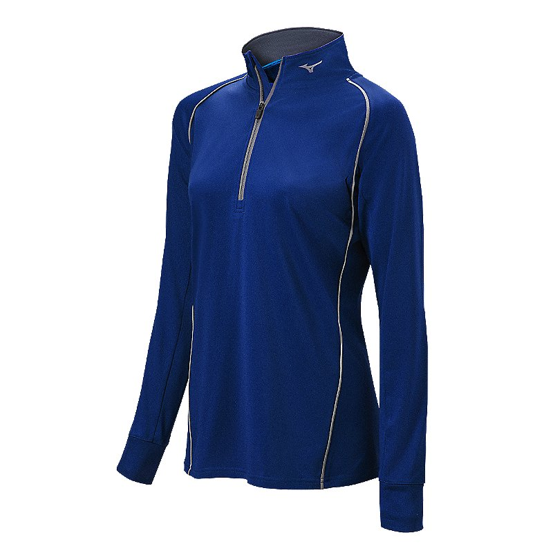 Womens Softball Apparel - Womens Comp 1/2 Zip Long Sleeve Pullover - 350589