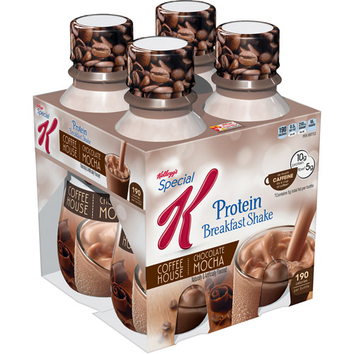 Kellogg's Chocolate Mocha Protein Breakfast Shake, 10 fl oz, 4-pack