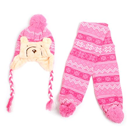 Kid's Scandinavian Bear Trapper Hat and Scarf Winter Set - Scary For Kids