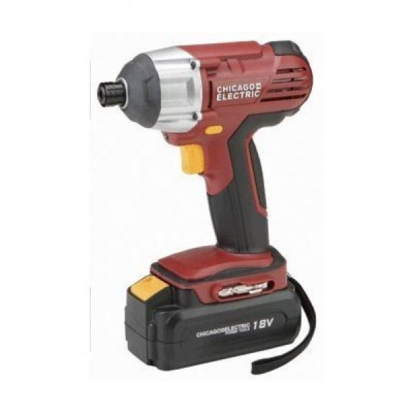 Chicago Electric 18 Volt Cordless 1/4 Hex Impact Driver w...