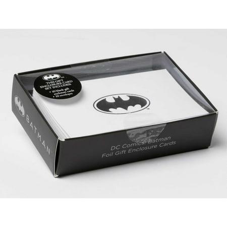 DC Comics: Batman Foil Gift Enclosure Cards (Set of (Dc Comics Gifts)