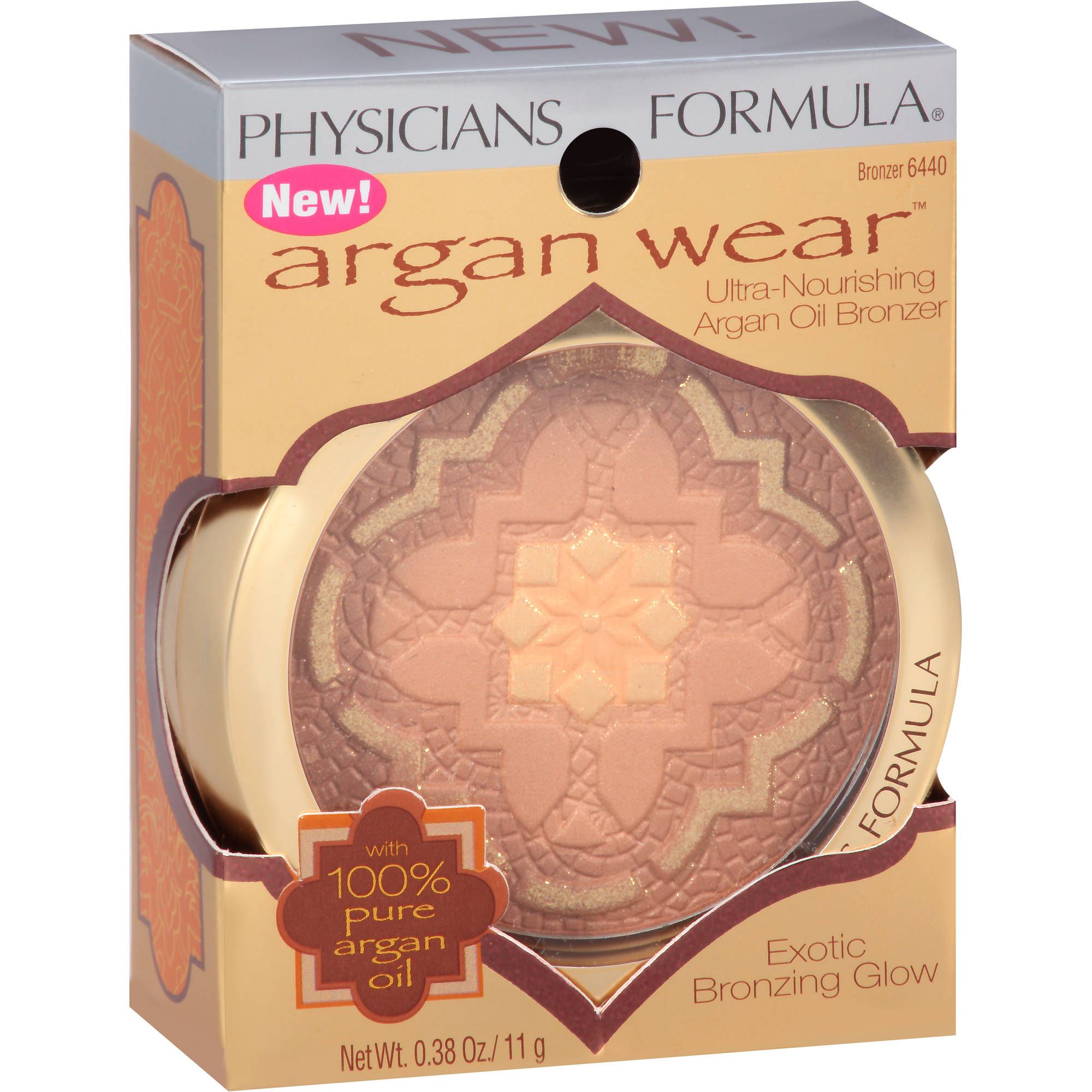Physicians Formula Argan Wear Ultra-Nourishing Argan Oil Bronzer, 6440, 0.38 oz