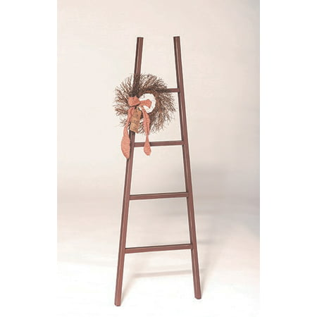 Furniture Barn USA™ Primitive Decorative Reclaimed Painted Board Rustic 4' Ladder ()