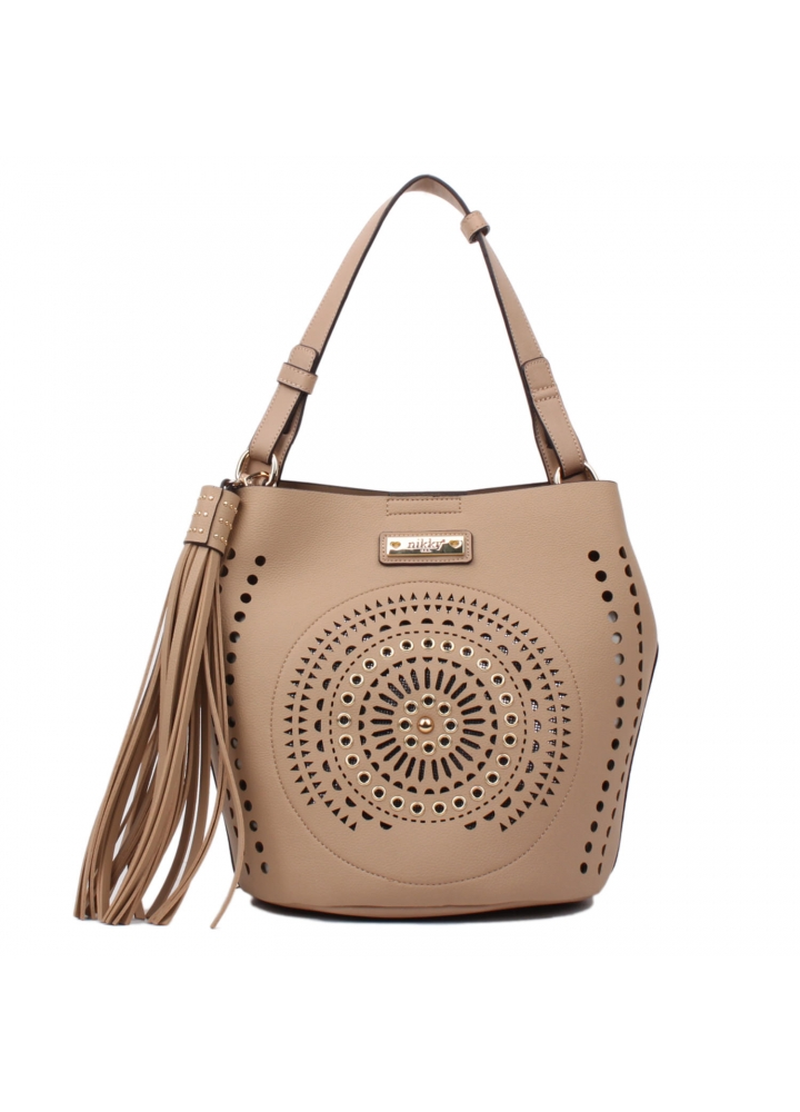 Beige Chantel Hobo Bag