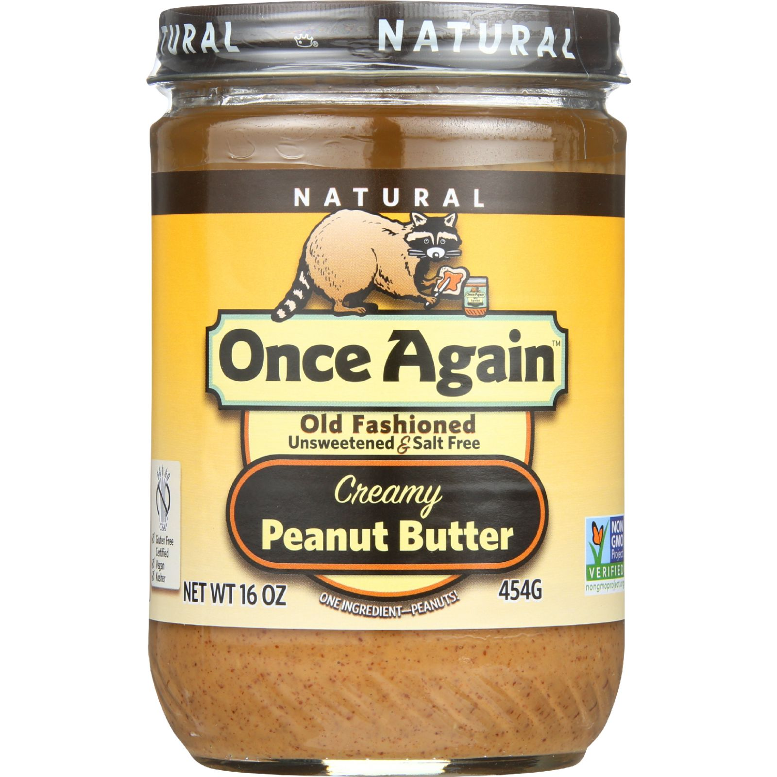 Once Again Peanut Butter - Old Fashioned - Creamy - No Sa...
