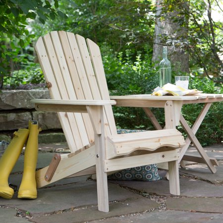 Foldable Adirondack Chair Kit Natural