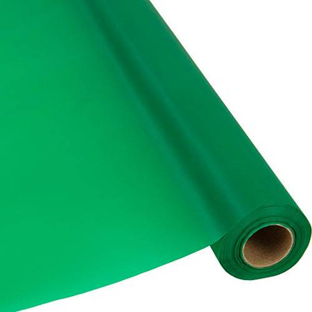Shindigz Plastic Table Cover Roll, 300', Emerald Green - Plastic Table Rolls