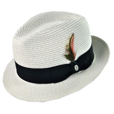 Toyo Straw Braid Trilby Fedora Hat - XL - -