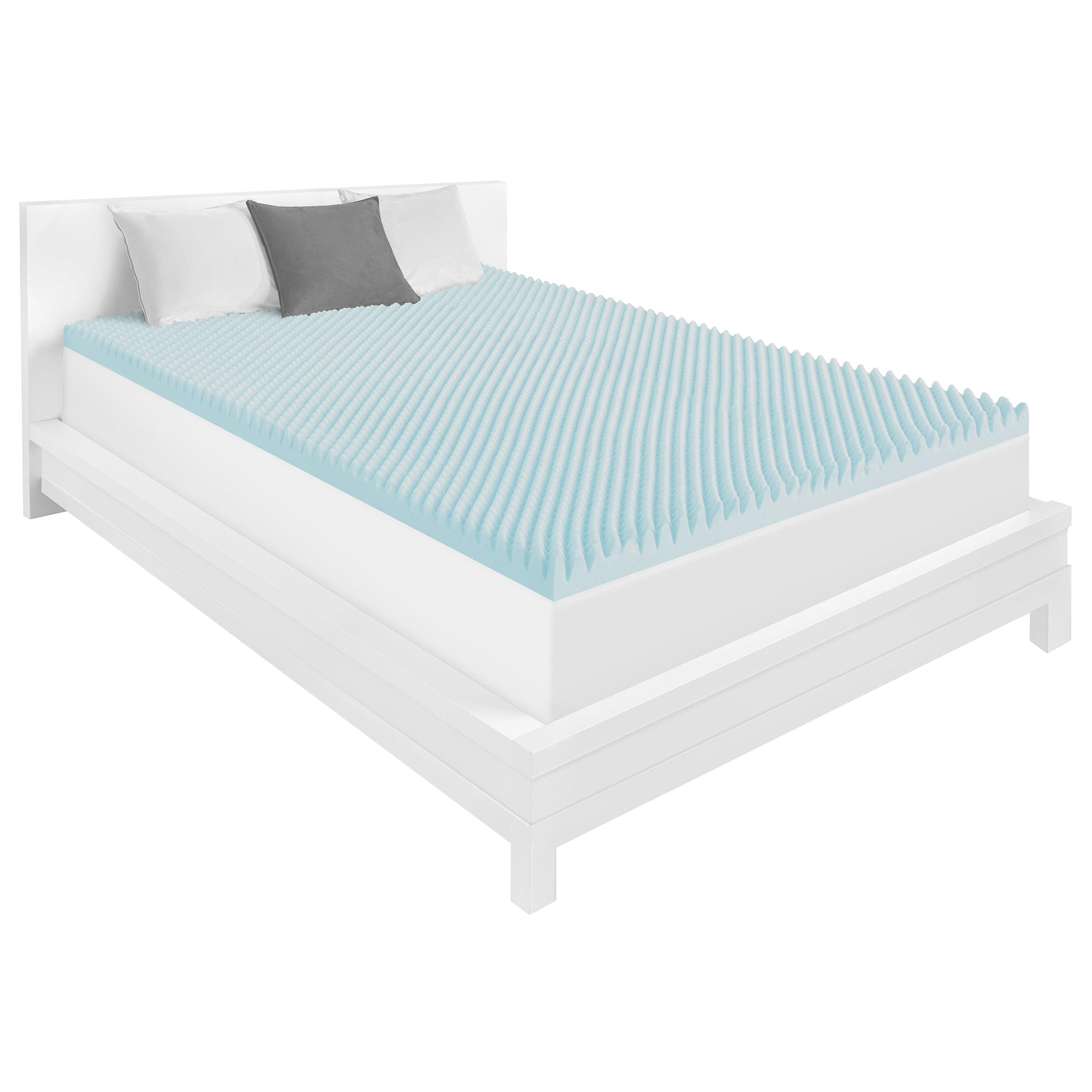 dream serenity 3 inch gel memory foam convoluted mattress topper. Black Bedroom Furniture Sets. Home Design Ideas