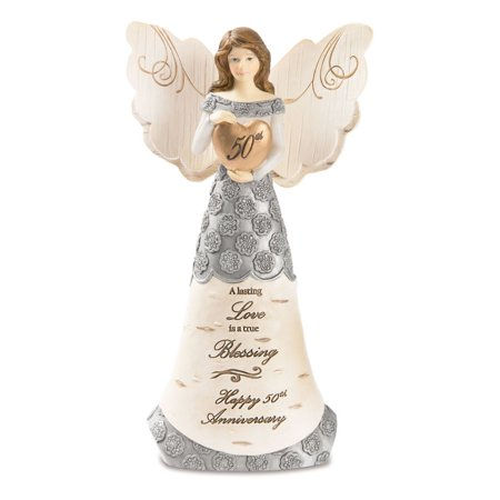 Pavilion Gift Company Elements 82421 50th Anniversary Angel Figurine