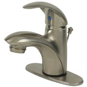 Ultra Faucets UF34123 Single Handle Brushed Nickel Lavatory Faucet with Pop-Up Drain