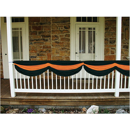 5' Long Halloween Fabric Bunting - Black Bunting