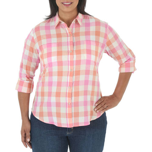 Riders by Lee Women's Plus Long Sleeve Woven Top