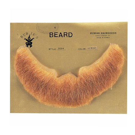 Light Brown Full Character Beard Human Hair Costume Halloween Accessory - Long Hair And Beard Halloween Costume Ideas