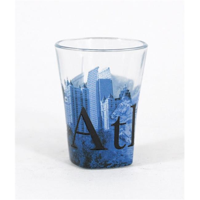 Americaware SGATL01 Atlanta Duo Tone Etched Shot Glass by Americaware