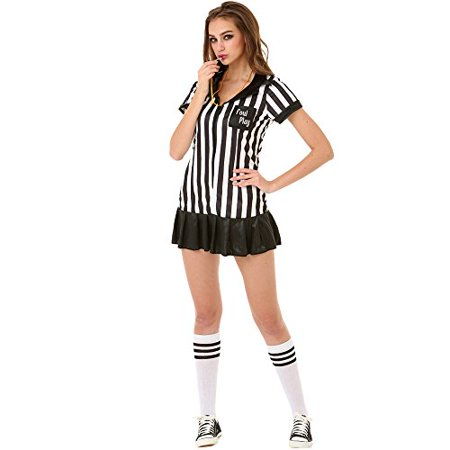 Boo! Inc. Risque Referee Women's Halloween Costume Sexy Sports Ref Ump Skirt Outfit (Referee Halloween Costumes)