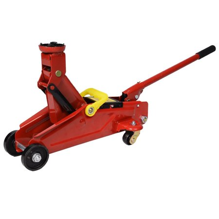 Mini Red 2 Ton 4000 lbs. Hydraulic Floor Jack Lift Tool on (Mini Jack)