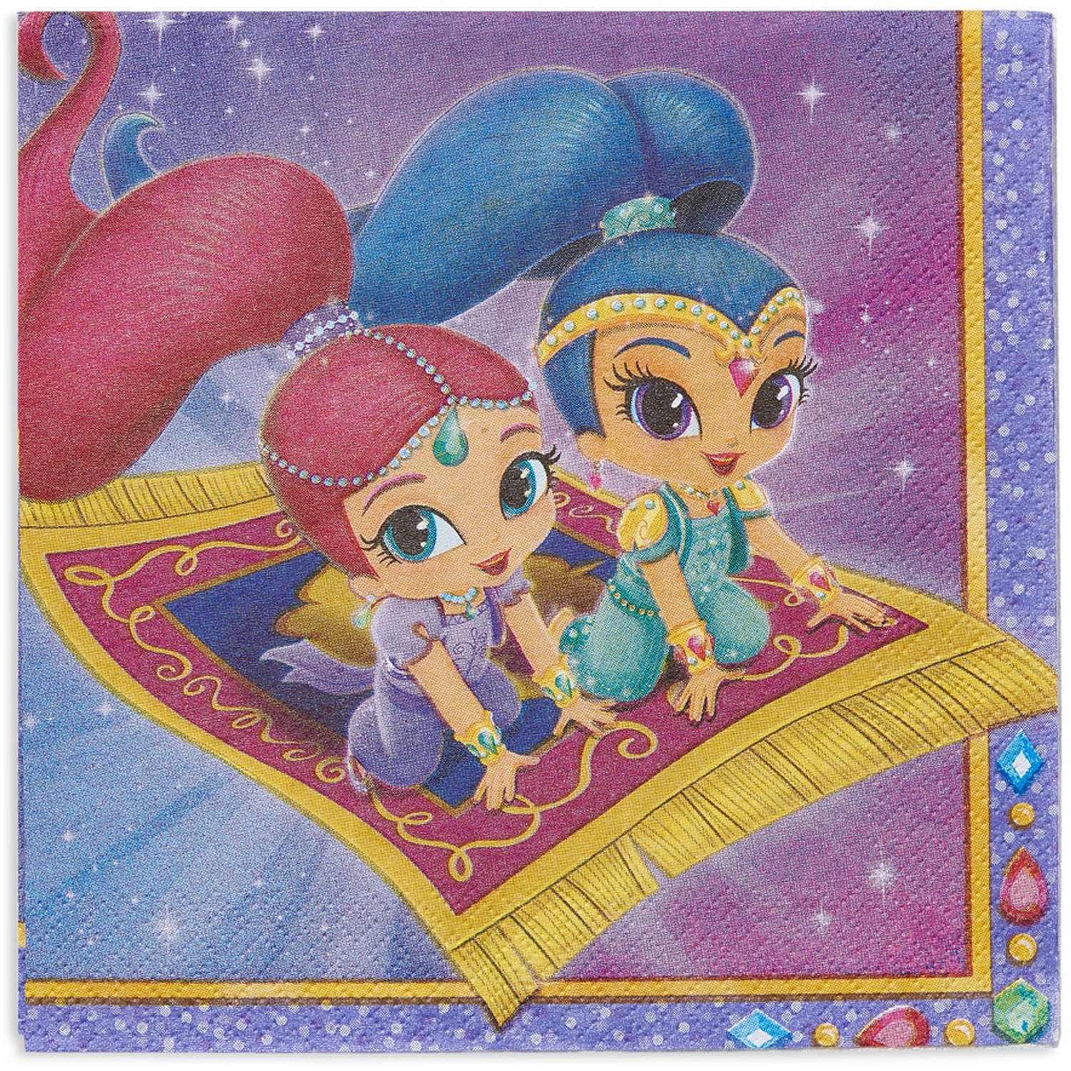 Shimmer and Shine Party Paper Lunch Napkins, 16ct