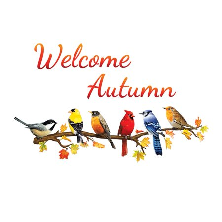 Welcome Autumn with Birds on Branch Garage Door Magnets, Outdoor Fall Decorations - Removable and - Happy Halloween Garage Door Magnets