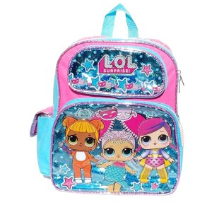 "LOL Surprise School Backpack 16"" Shiney Baby Blue"