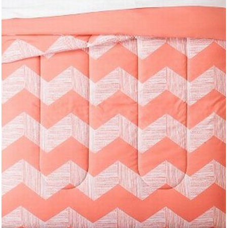 Room Essentials Twin Xl Peach Chevron Reversible Comforter