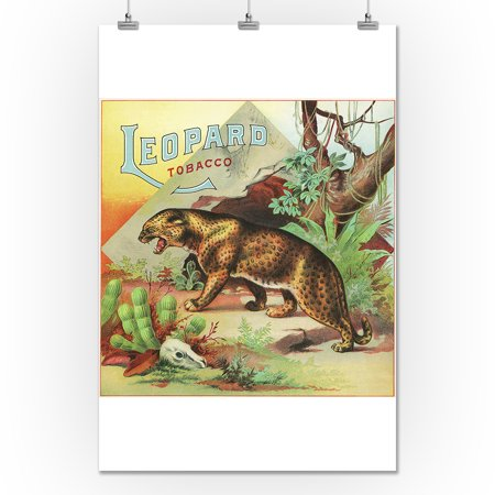 Leopard Brand Tobacco Label (24x36 Giclee Gallery Print, Wall Decor Travel