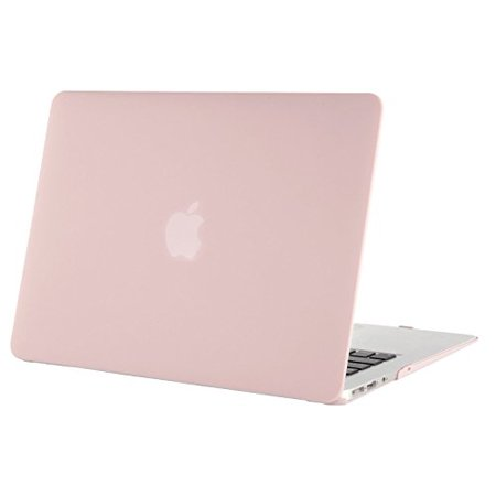 Mosiso MacBook Air 13 Case, Ultra Slim Soft-Touch Plastic See Through Hard Shell Snap On Cover for MacBook Air 13.3 Inch (A1466 & A1369), Rose Quartz(Baby (Best Laptop Case For Macbook Air 13)