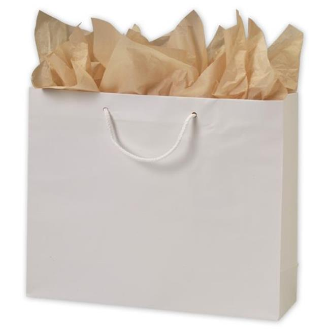 Bags & Bows by Deluxe 244M-160513-9M White Matte Laminated Euro-Shoppers - Case of 100