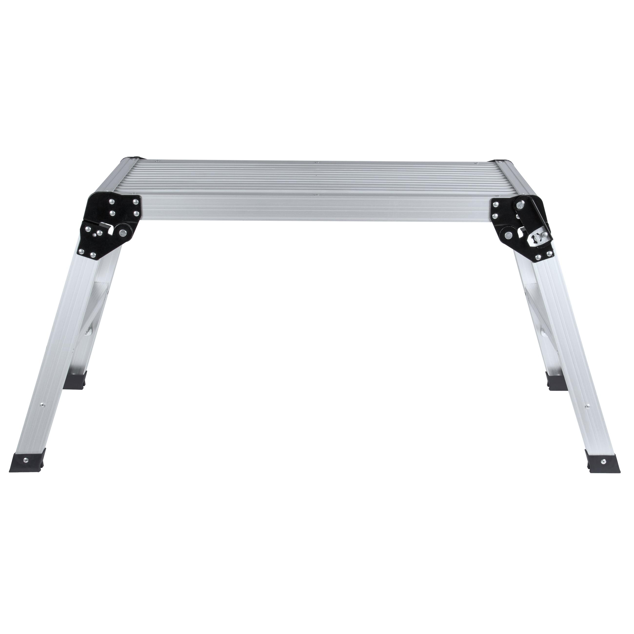 BCP Certified EN131 Aluminum Platform Drywall Step Up Folding Work Bench Stool Ladder - Walmart.com  sc 1 st  Walmart & BCP Certified EN131 Aluminum Platform Drywall Step Up Folding Work ... islam-shia.org