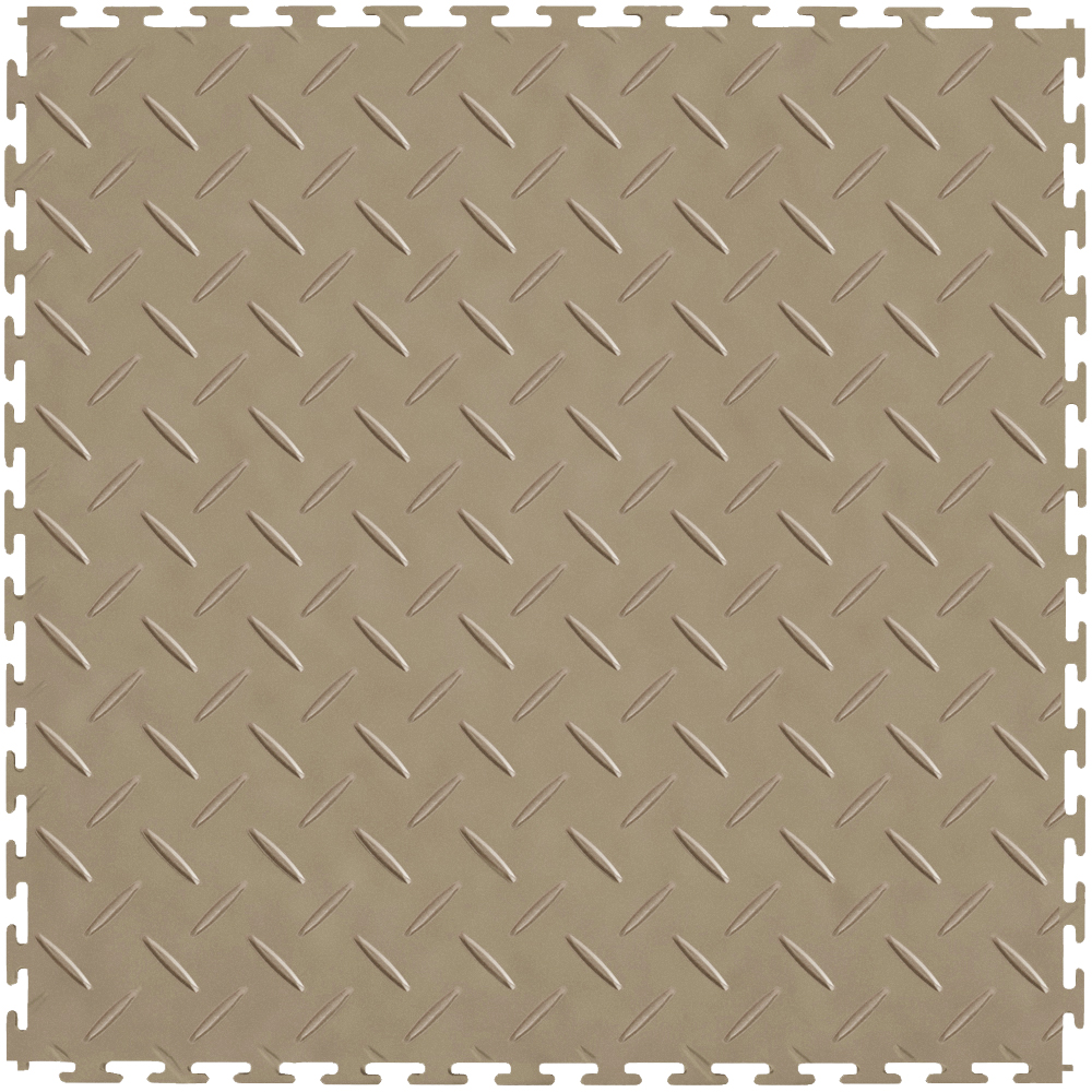 "ITtile - DiamondPlate, Red 20.5"" x 20.5"" 4 mm, 3.85lb. 8 tiles/carton 23.25sqft"