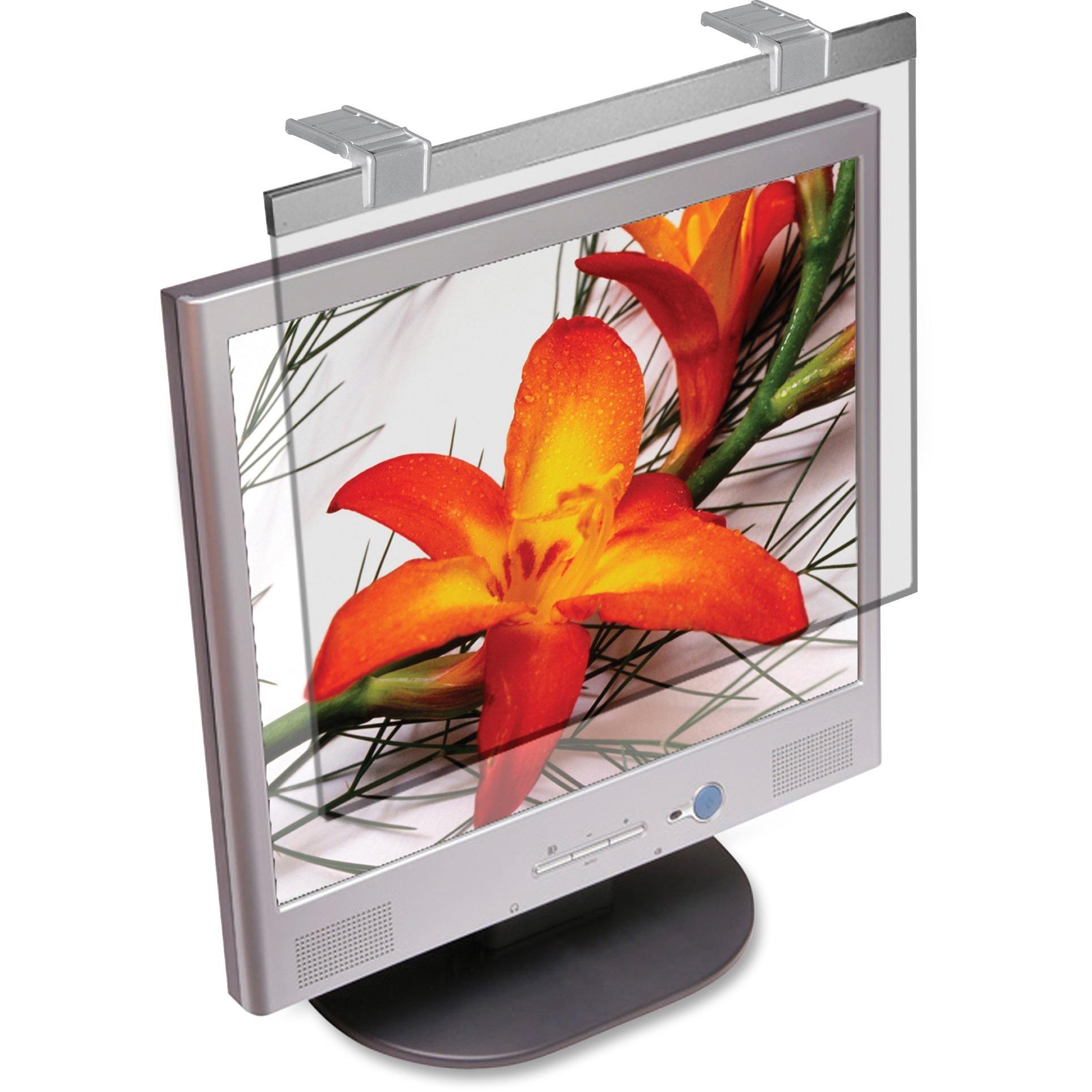 Kantek, KTKLCD24W, LCD Protective Filter, 1, Silver