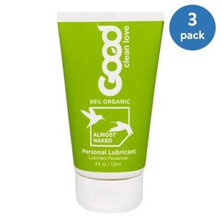 (3 Pack) Good Clean Love : Almost Naked Personal Lubricant, 4