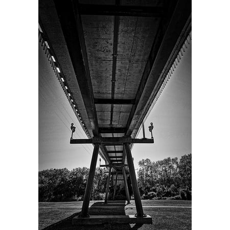 Foot Span Bridge - LAMINATED POSTER Construction Suspension Span Structure Bridge Poster 24x16 Adhesive Decal