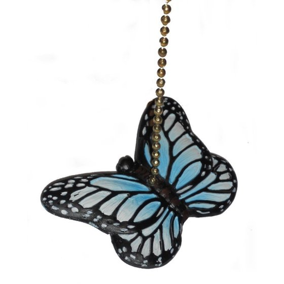 Blue Monarch Butterfly Ceiling Fan Pull Or Light Pull