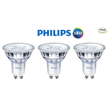 Philips 465104 LED GU10 Dimmable 35-Degree Spot Light Bulb: 400-Lumen, 5000K Daylight, 6-Watt (50-Watt Equivalent), 120V MR16, 3-Pack - Led Mr16 Spotlight