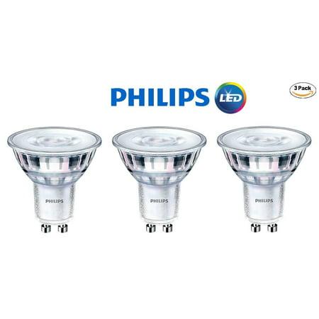 Philips 465104 LED GU10 Dimmable 35-Degree Spot Light Bulb: 400-Lumen, 5000K Daylight, 6-Watt (50-Watt Equivalent), 120V MR16, 3-Pack