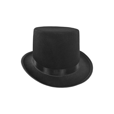 Mens Short Black Top Hat Cap Topper Steampunk Victorian Charles - Mens Steampunk
