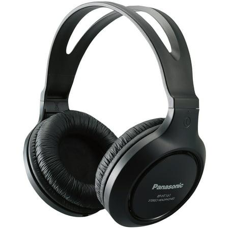 Panasonic RP-HT161-K Full Size Over-Ear Wired Long-Cord Headphones