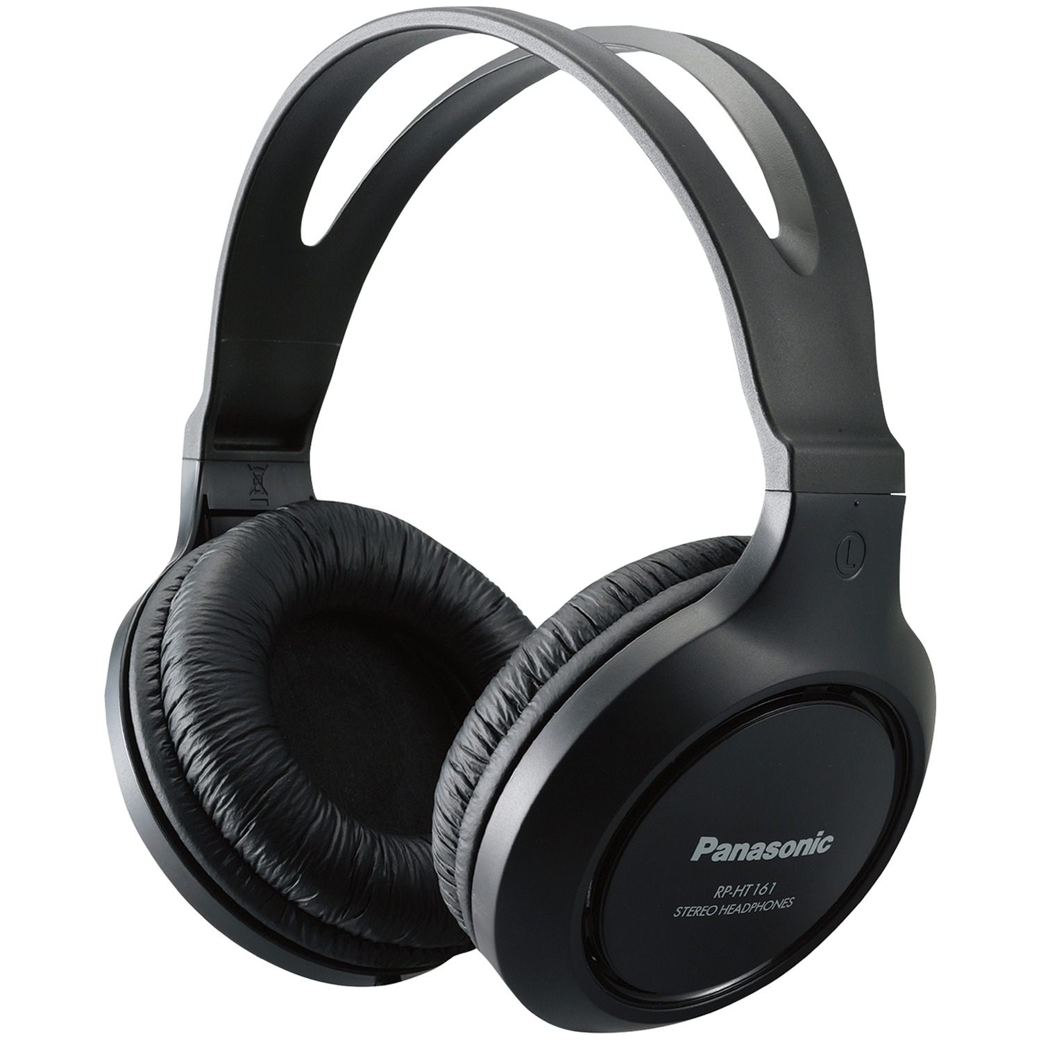 Panasonic RP-HT161-K Full Size Over-Ear Wired Long-Cord Headphones