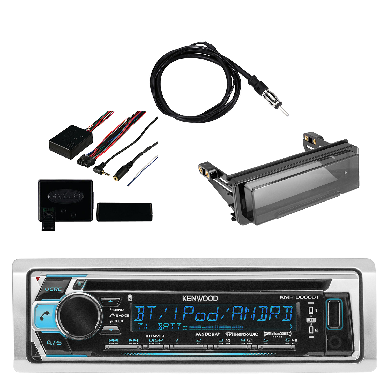Steering Wheel Interface Marine Bluetooth Radio Single-DIN Stereo Install Kit